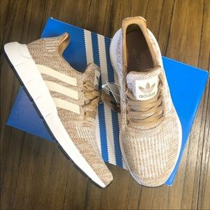 Adidas Swift Run gold white sneakers shoes